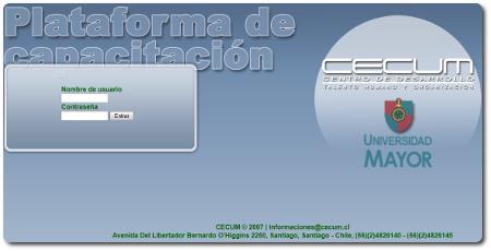Plataforma Capacitación OTEC CECUM